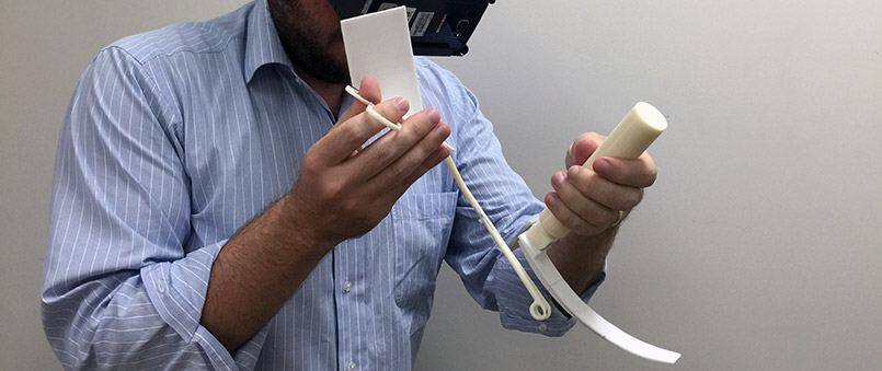 laryngoscopy simulation with 3d prints and markers